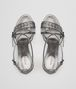 BOTTEGA VENETA CHERBOURG SANDAL IN ARGENTO ANTIQUE NAPPA, INTRECCIATO DETAILS Pump or Sandal D ep
