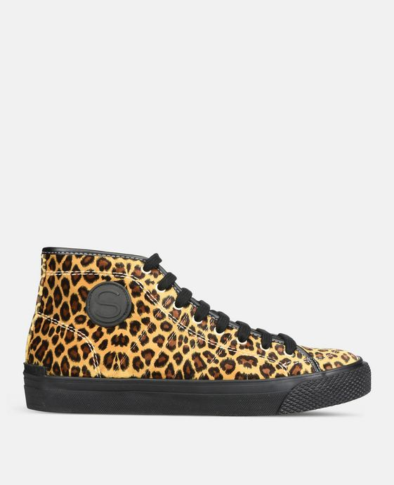 Leopard High-Top Vulca Sneakers