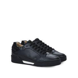 Black Alter Nappa Chain Sneakers