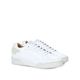 White Alter Nappa Chain Sneakers
