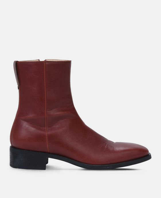 Red Polished Boots