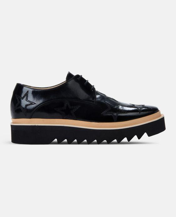 STELLA McCARTNEY MEN Black Star Luis Brogue Men Flat Shoes U c