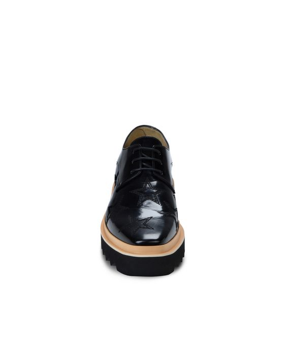 STELLA McCARTNEY MEN Black Star Luis Brogue Men Flat Shoes U g