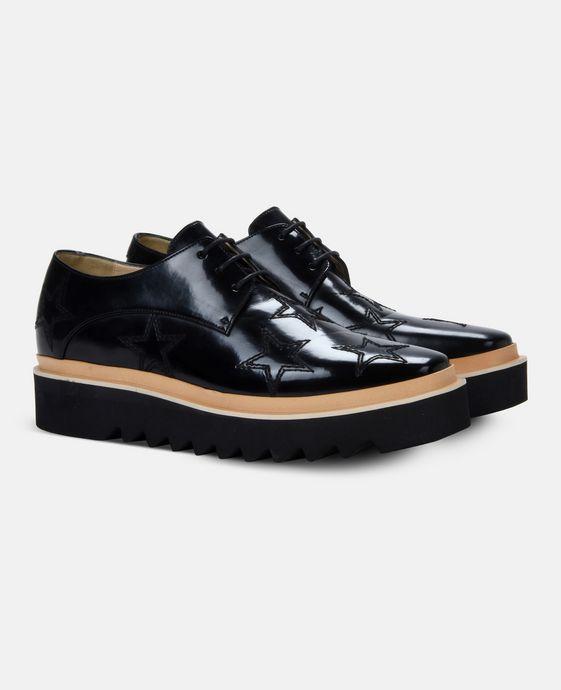 STELLA McCARTNEY MEN Black Star Luis Brogue Men Flat Shoes U h