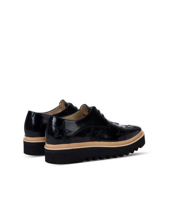 STELLA McCARTNEY MEN Black Star Luis Brogue Men Flat Shoes U i