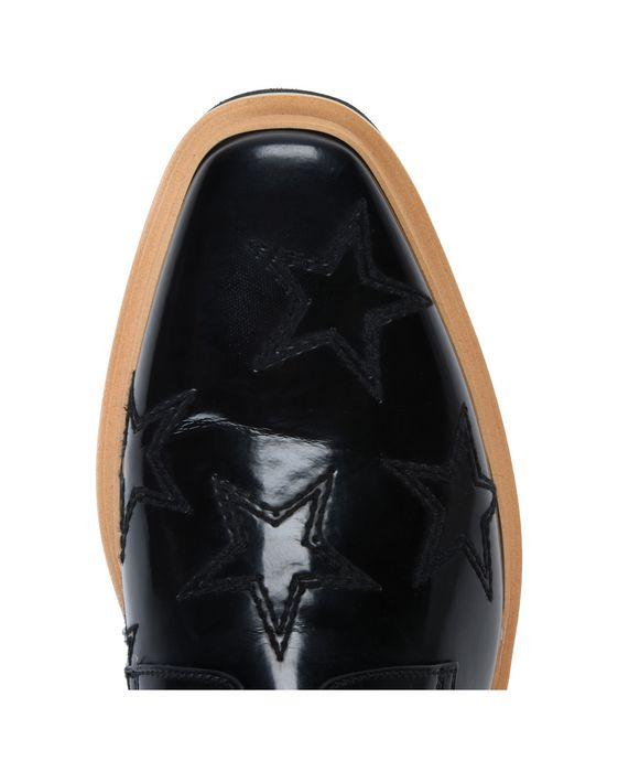 STELLA McCARTNEY MEN Black Star Luis Brogue Men Flat Shoes U p