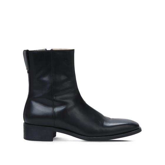 ブラック ポリッシュド ブーツ
