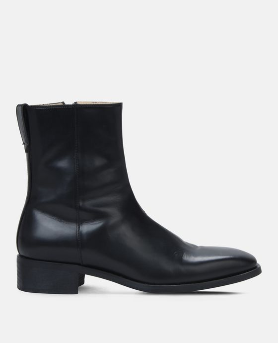Black Polished Boots