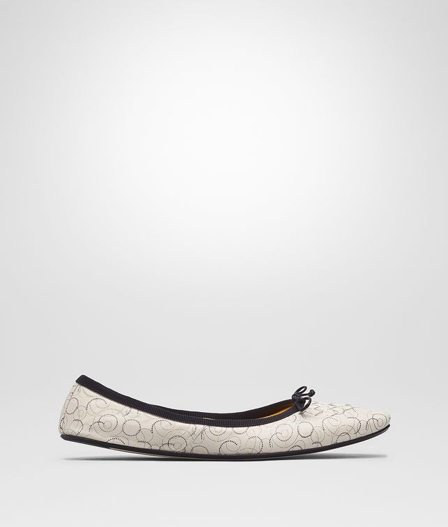 BOTTEGA VENETA MIST NAPPA LEATHER PICNIC BALLERINA Flat Woman fp