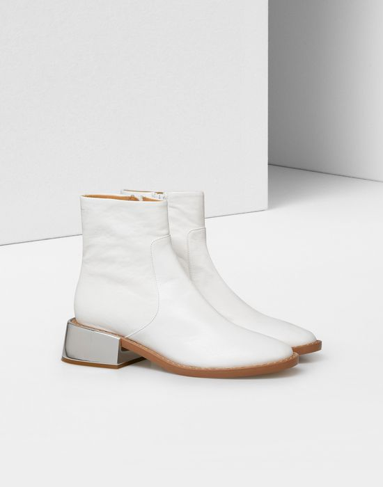 maison margiela ankle boots with metallic flared heel
