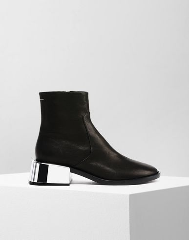 MM6 by MAISON MARGIELA Ankle boots D Ankle boots with metallic flared heel f