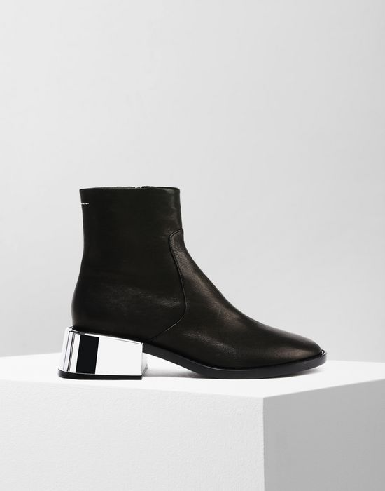 171b49f2d541 MM6 MAISON MARGIELA Ankle boots with metallic flared heel Ankle boots       pickupInStoreShipping info
