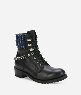 KARL LAGERFELD BIKER LACE BOOT MIX