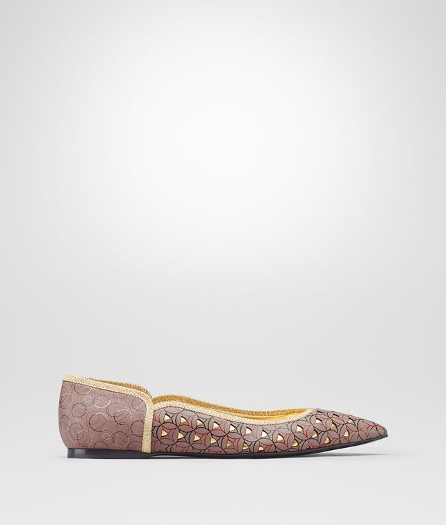 BOTTEGA VENETA TIPPIE BALLERINA IN DESERT ROSE NAPPA Flat Woman fp