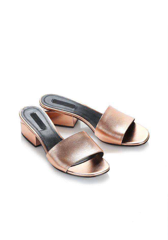 ALEXANDER WANG METALLIC LOU SANDAL  平底鞋 Adult 12_n_e