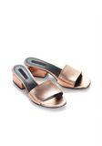 ALEXANDER WANG METALLIC LOU SANDAL  平底鞋 Adult 8_n_e