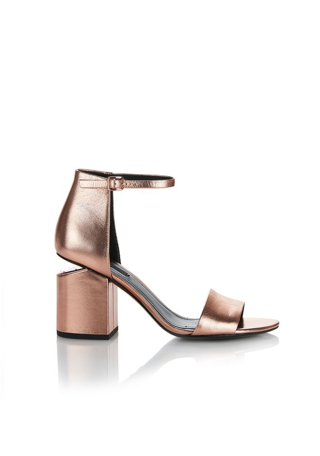 ALEXANDER WANG ABBY METALLIC SANDAL WITH ROSE GOLD  中跟鞋 Adult 12_n_f
