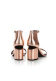ALEXANDER WANG ABBY METALLIC SANDAL WITH ROSE GOLD  中跟鞋 Adult 8_n_a