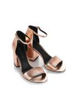 ALEXANDER WANG ABBY METALLIC SANDAL WITH ROSE GOLD  中跟鞋 Adult 8_n_e