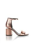 ALEXANDER WANG ABBY METALLIC SANDAL WITH ROSE GOLD  中跟鞋 Adult 8_n_f