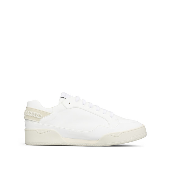 White Alter Nappa Chain Sneakers