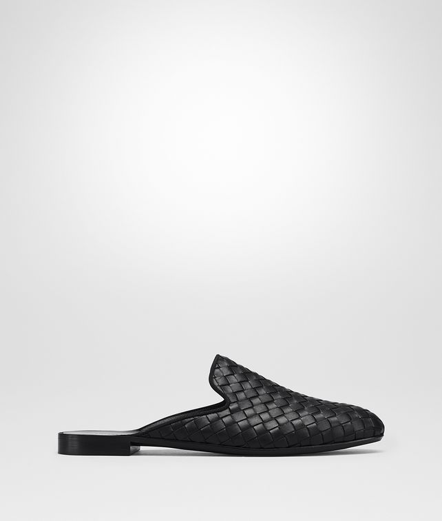 BOTTEGA VENETA NERO INTRECCIATO NAPPA FIANDRA SLIPPER Flat Woman fp