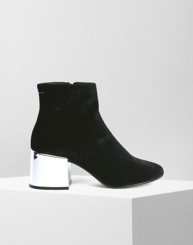 MM6 MAISON MARGIELA Ankle boots D Velvet ankle boots with metallic heels f