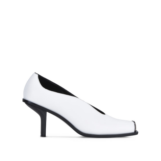 White Alter Nappa Pumps