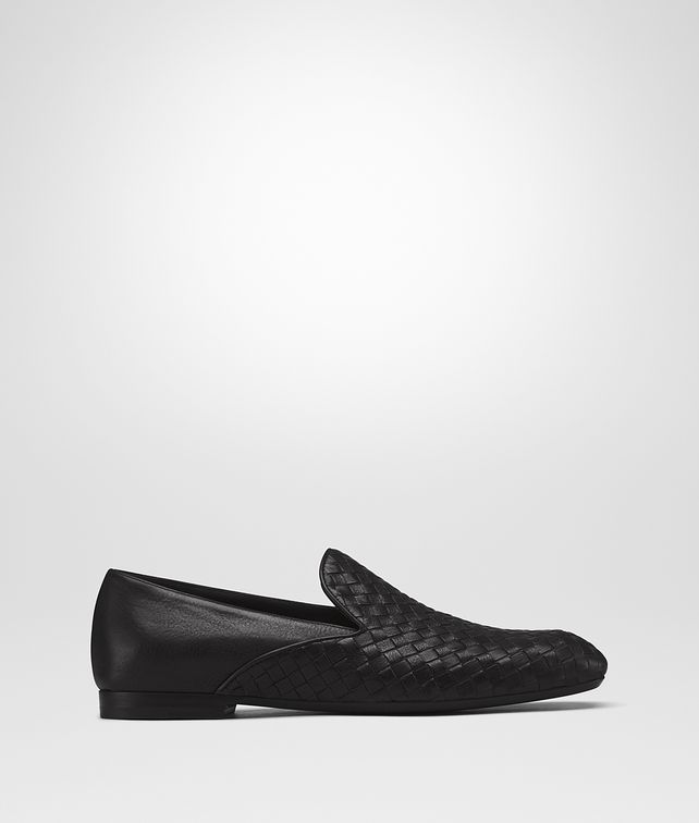 BOTTEGA VENETA FIANDRA MID SLIPPER IN NERO INTRECCIATO CALF Mocassin or Slipper U fp