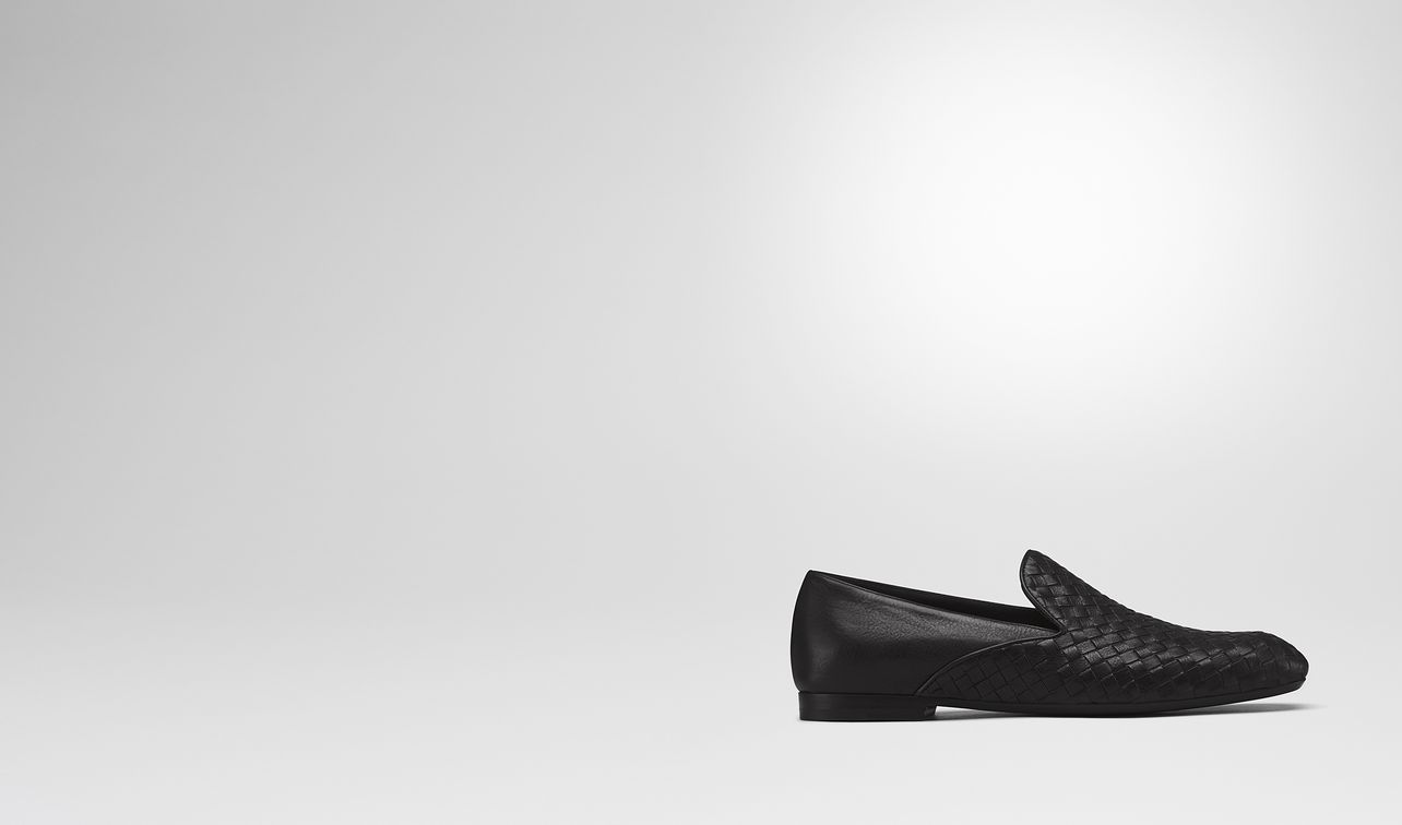 fiandra mid slipper in nero intrecciato calf landing