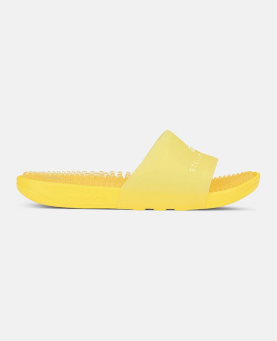 Yellow Adidas Slides