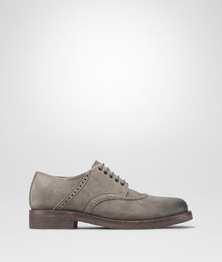 THIBALD LACE UP IN STEEL SUEDE