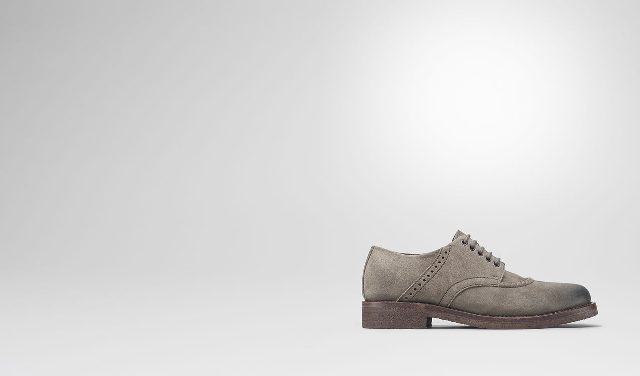 thibald lace up in steel suede landing
