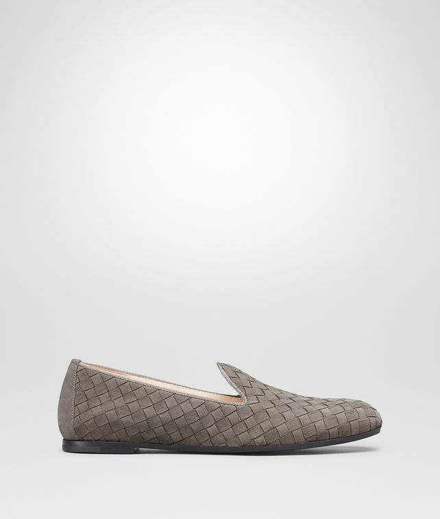 BOTTEGA VENETA FIANDRA SLIPPER IN STEEL INTRECCIATO SUEDE Flat Woman fp