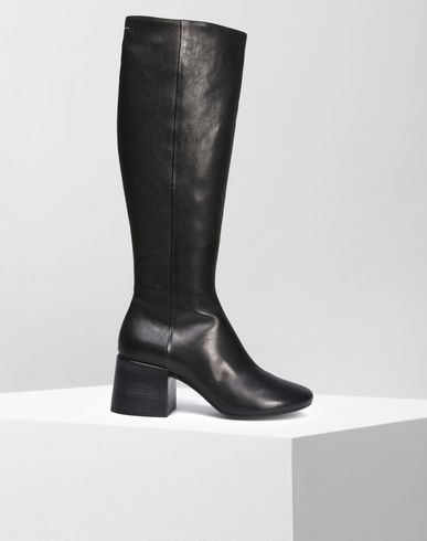 MM6 MAISON MARGIELA Boots D Shearling knee-high boots f