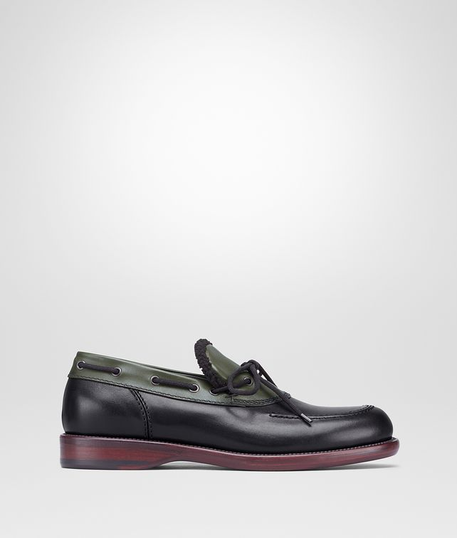 BOTTEGA VENETA NERO CALF SLIP ON Mocassin or Slipper Man fp