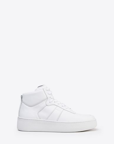 Calfskin high top sneakers