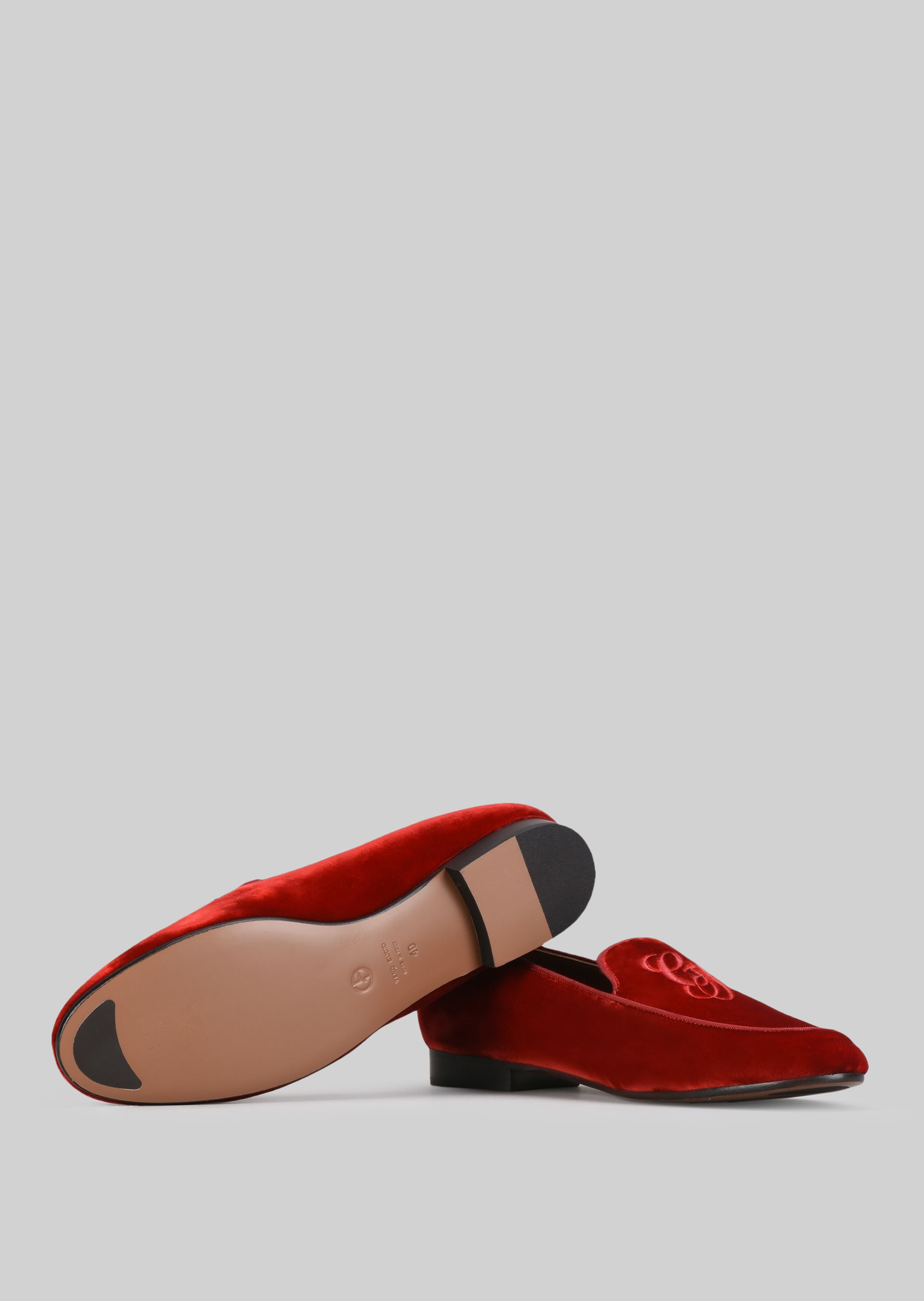 GIORGIO ARMANI VELVET LOAFERS Loafers D a