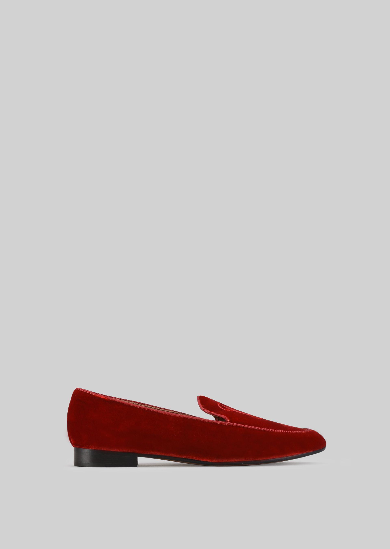 GIORGIO ARMANI VELVET LOAFERS Loafers D f