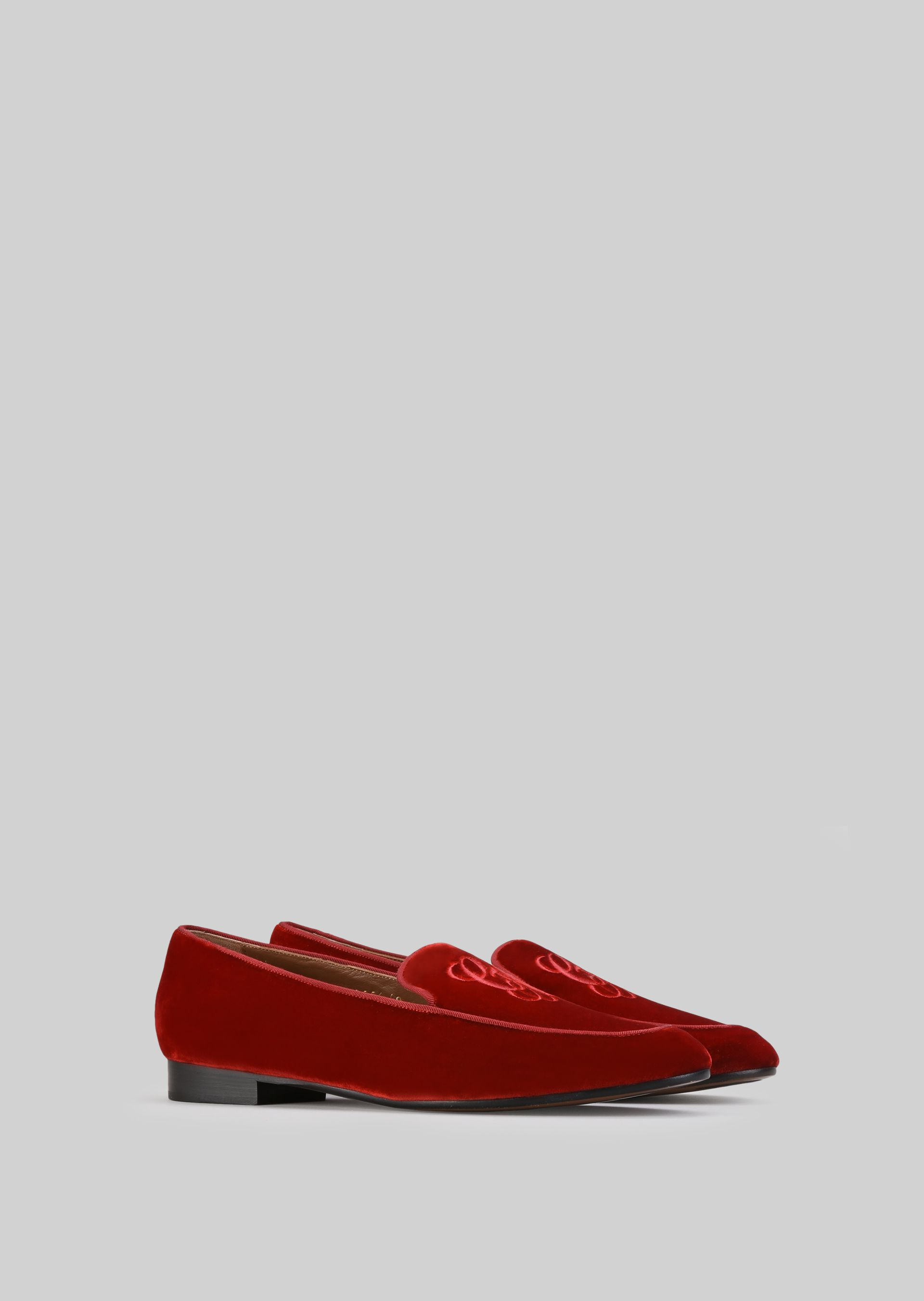 GIORGIO ARMANI VELVET LOAFERS Loafers D r