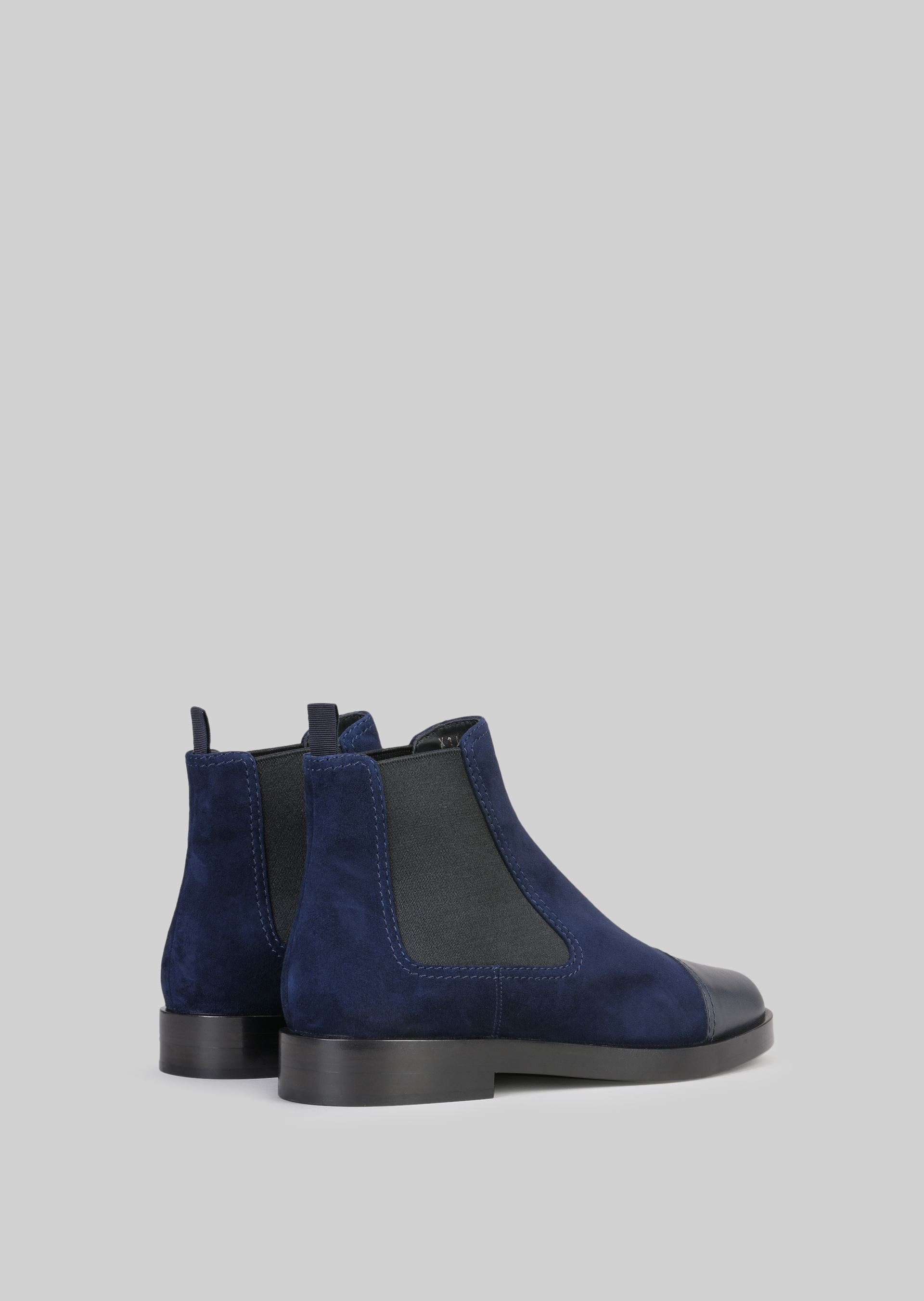 GIORGIO ARMANI SUEDE BEATLE BOOTS Ankle Boots D d