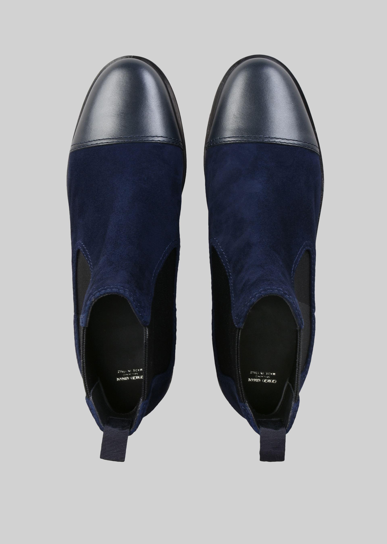 GIORGIO ARMANI SUEDE BEATLE BOOTS Ankle Boots D e