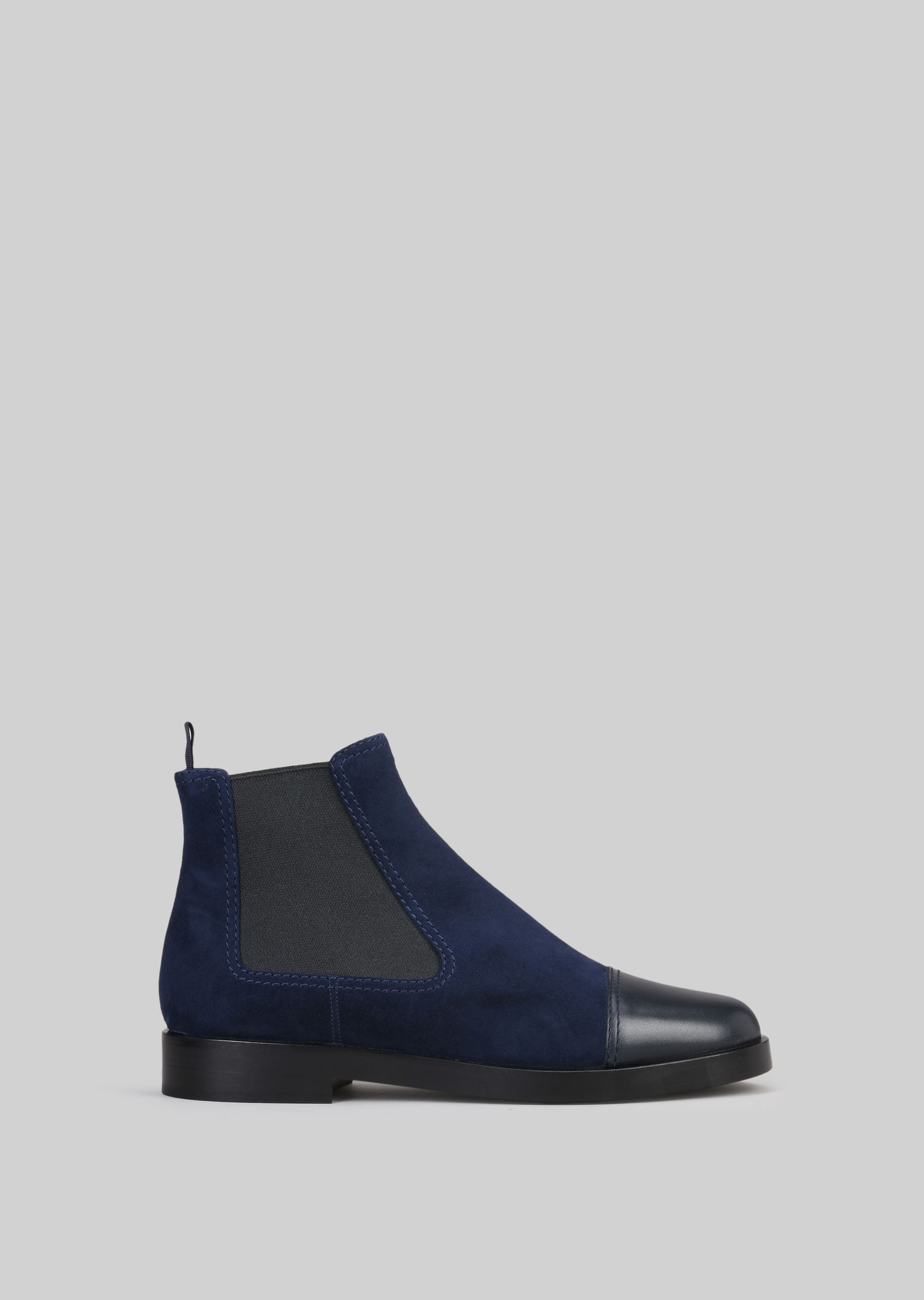 GIORGIO ARMANI SUEDE BEATLE BOOTS Ankle Boots D f
