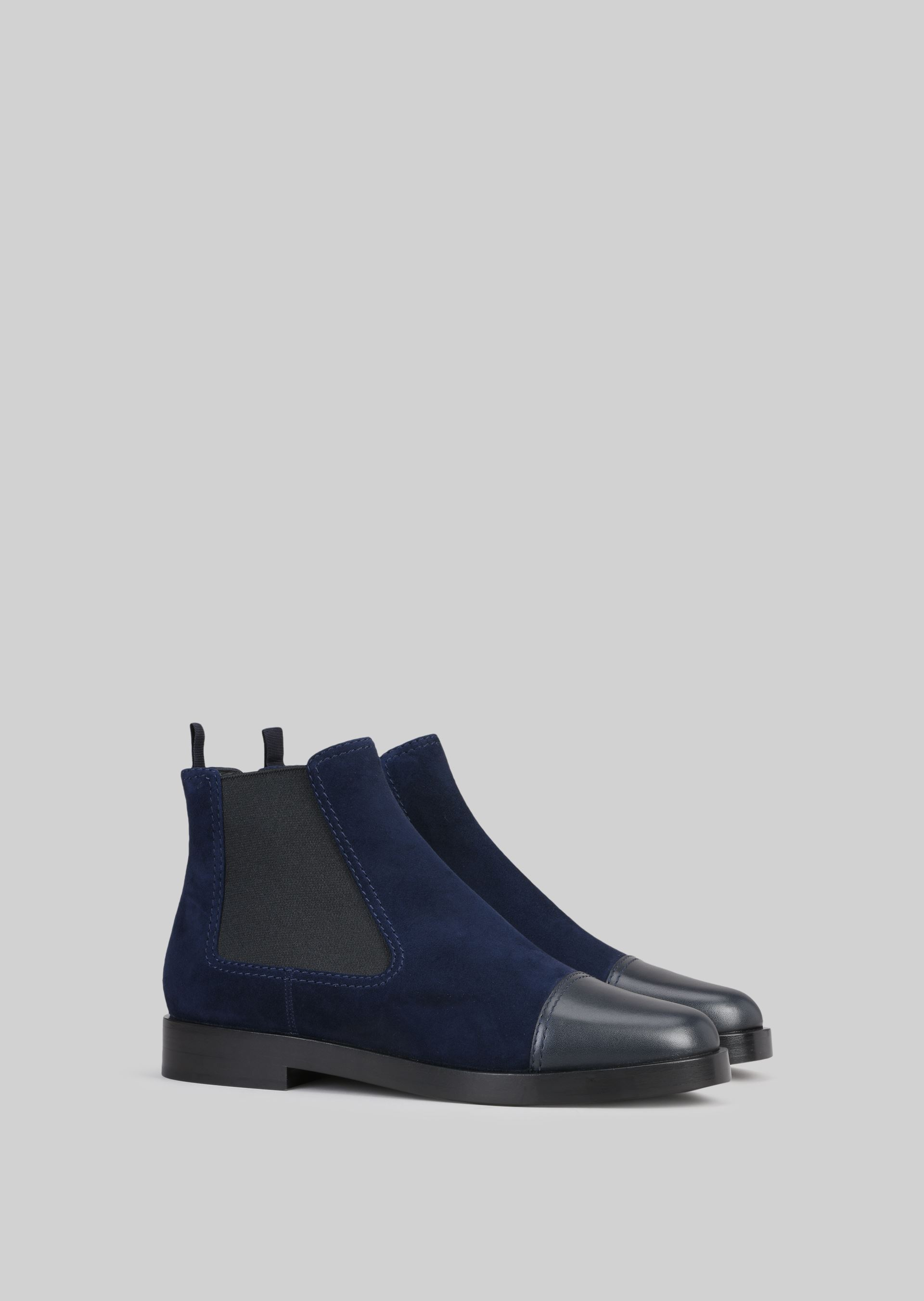 GIORGIO ARMANI SUEDE BEATLE BOOTS Ankle Boots D r