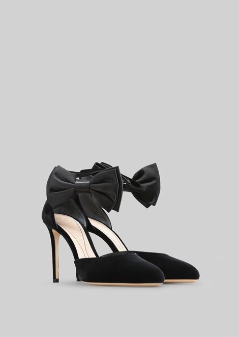 VELVET PUMPS WITH BOW