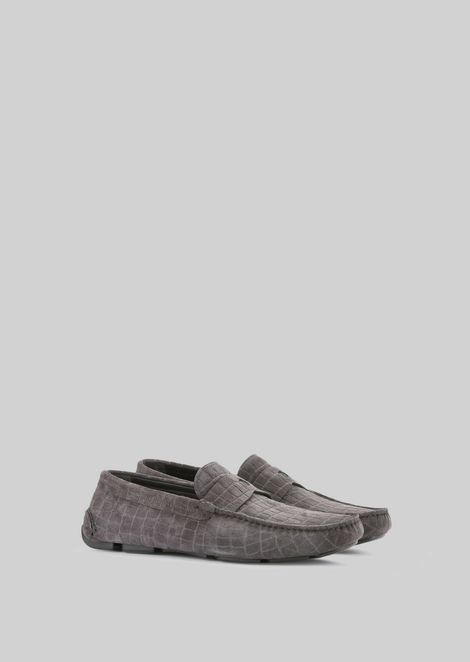 DRIVING LOAFERS IN TORTOISE PRINT CALFSKIN