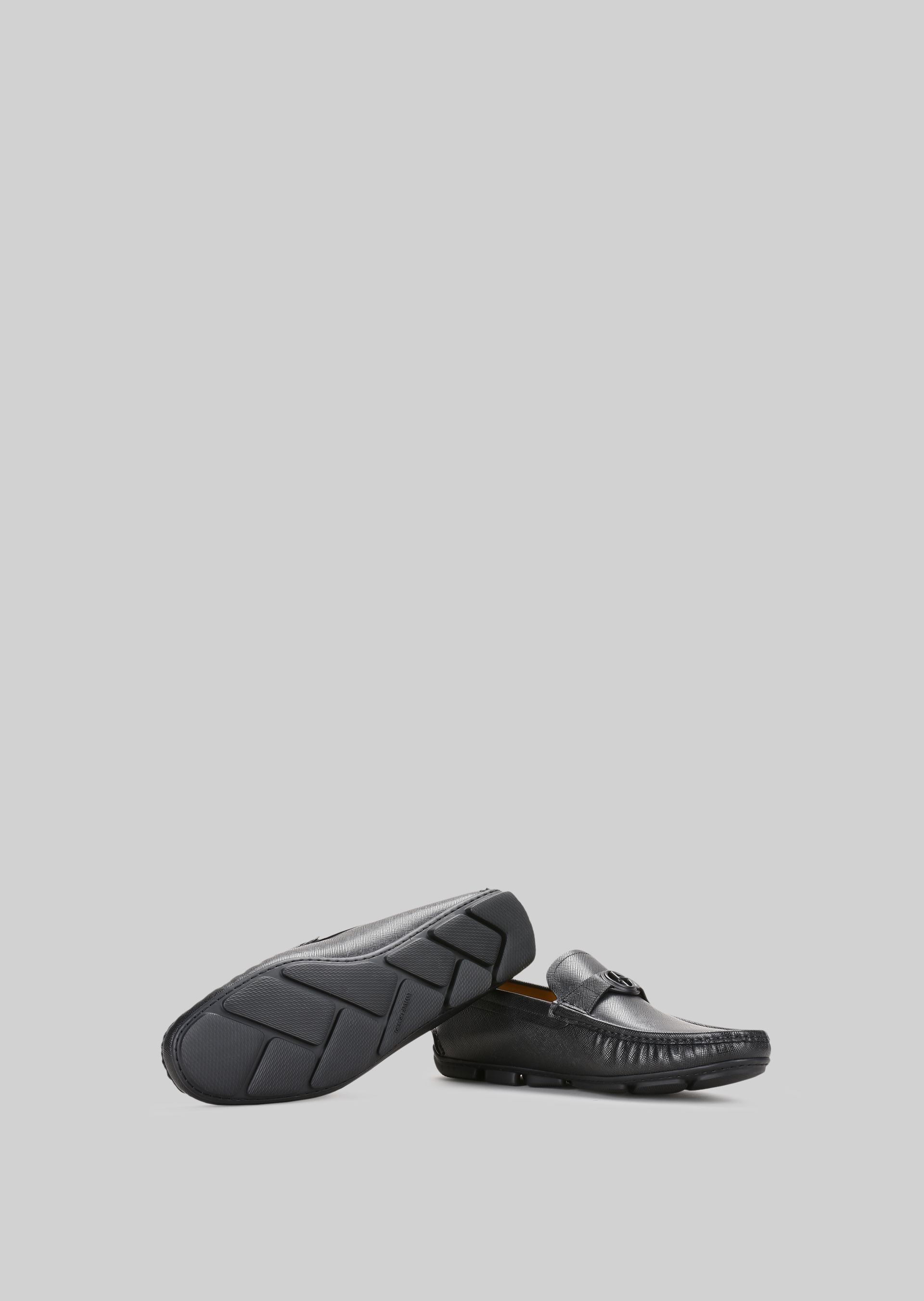 GIORGIO ARMANI LEATHER DRIVING LOAFERS Driving Shoes U a