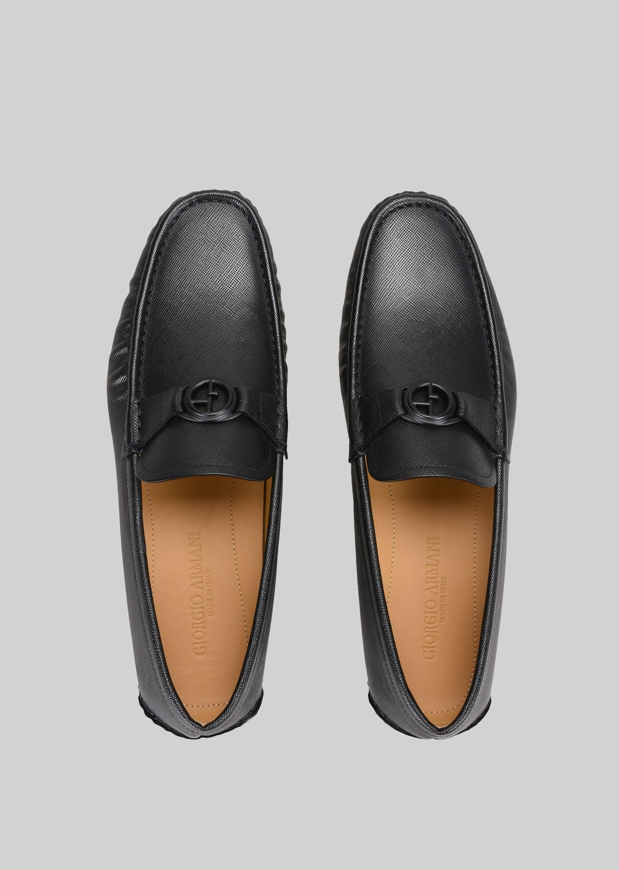 GIORGIO ARMANI LEATHER DRIVING LOAFERS Driving Shoes U e