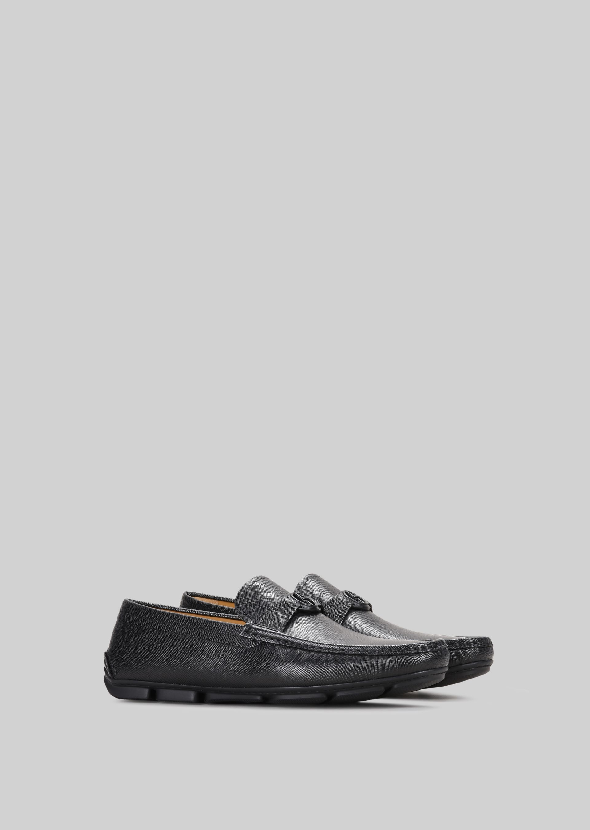 GIORGIO ARMANI LEATHER DRIVING LOAFERS Driving Shoes U r