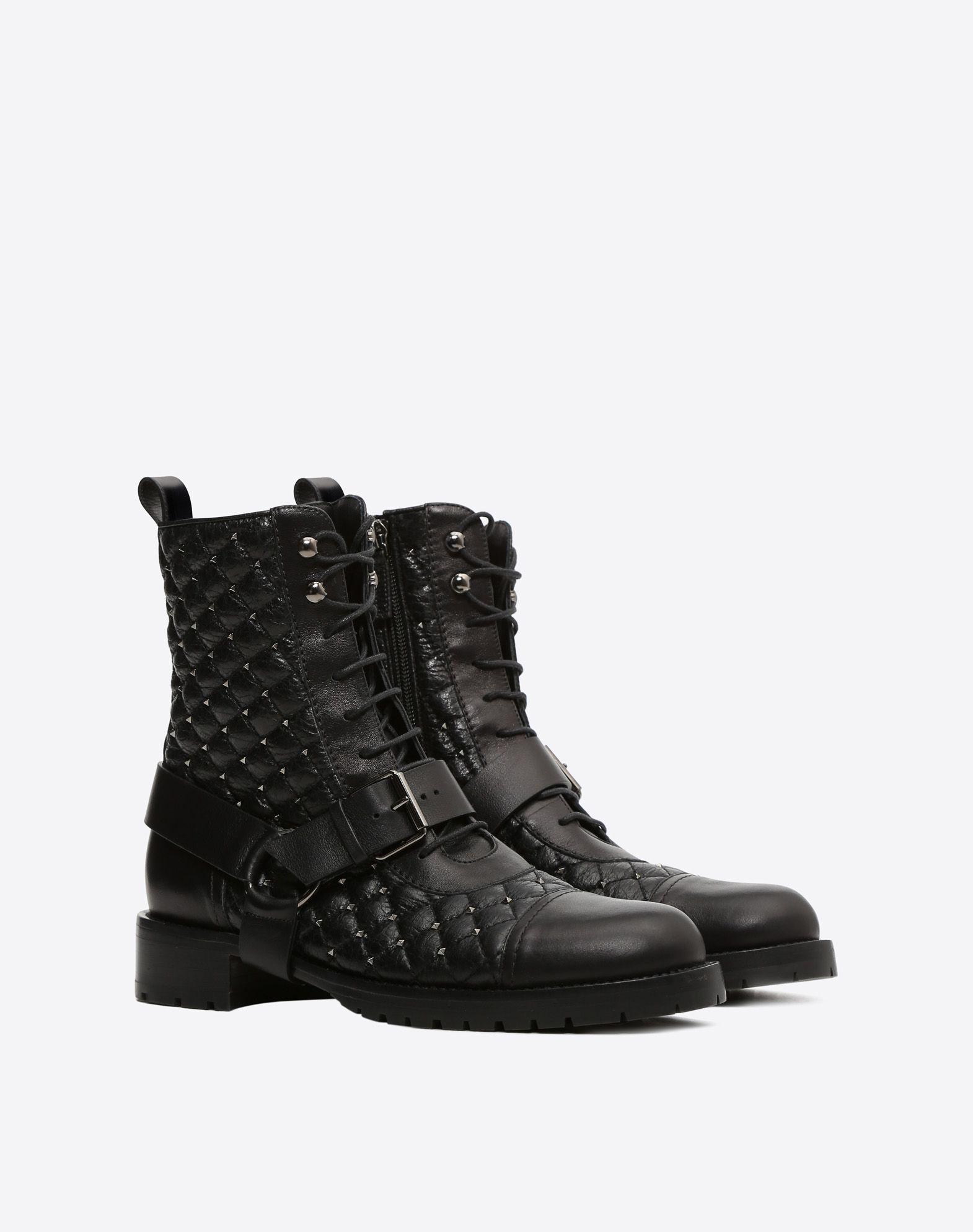 ... VALENTINO GARAVANI Rockstud Spike biker boot Bootie D r ...